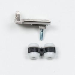 Верхній ролик для дверей, що складаються, S1200, колір срібло - Raumplus
