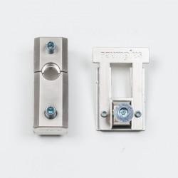Держатель верхний для складных/распашных дверей 1200, серебро - Raumplus