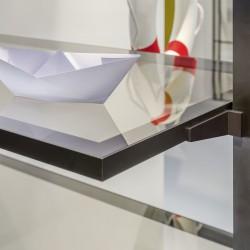 L-тримач скляної полиці LED, срібло - Raumplus