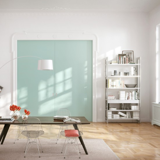 Система для деревянных дверей AIR SDB 38-42мм, цвет-серебро - Raumplus
