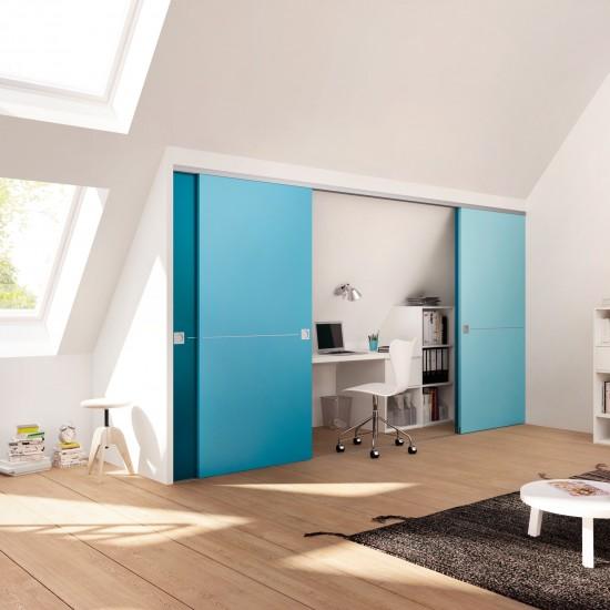Система для деревянных дверей 38-42мм, цвет-серебро - Raumplus