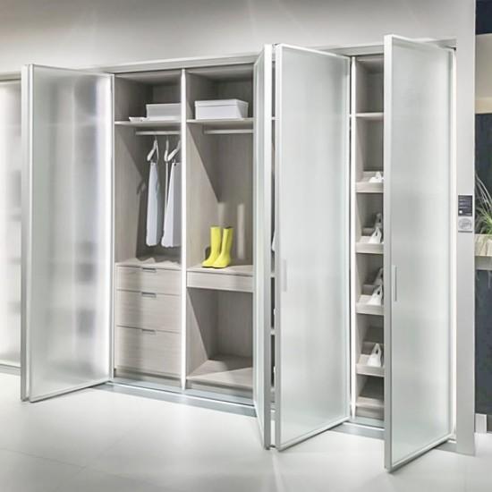 Распашные двери 1200, цвет-серебро - Raumplus