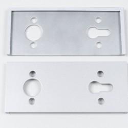 Корпус магнитного замка Swing, серебро - Raumplus