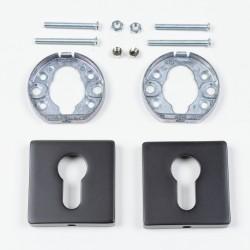 Квадратные розетки для цилиндра, цвет-черный - Raumplus
