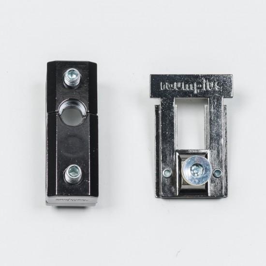Держатель верхний для складных/распашных дверей 1200, черный - Raumplus