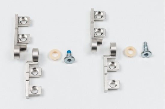 Петли шарнирные для складных дверей 1200, цвет - серебро - Raumplus