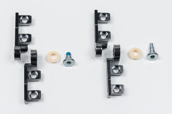 Петли шарнирные для складных дверей 1200, цвет - черный - Raumplus