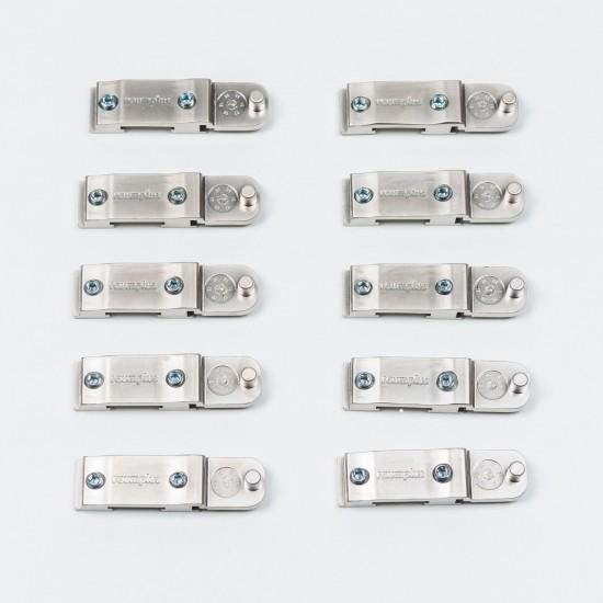 Соединения для позиционера распашных дверей 1200, цвет-серебро - Raumplus