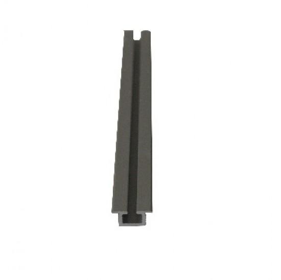 Направляющая нижняя врезная серебро 15мм - Raumplus