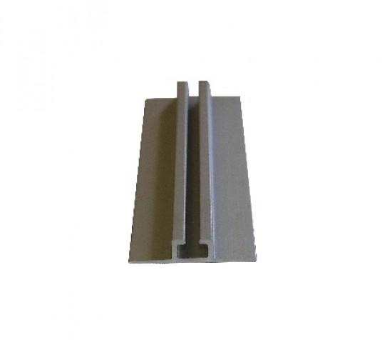 Направляющая нижняя одиночная накладная серебро - Raumplus