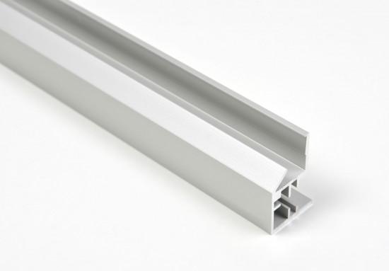 Профиль открытый для стеклянной полки LED, серебро - Raumplus