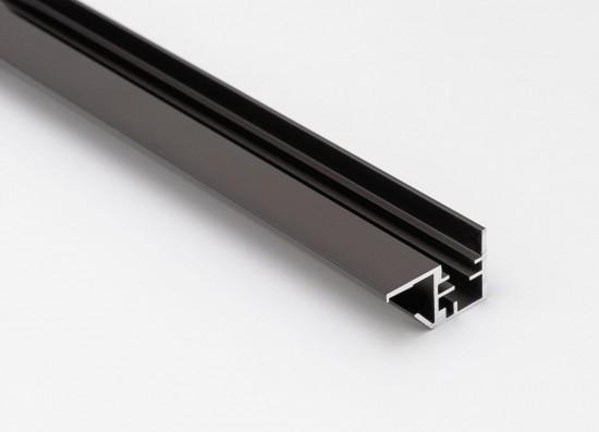 Профиль открытый для стеклянной полки LED, темная бронза - Raumplus