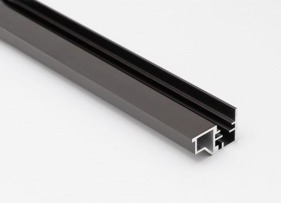 Профиль закрытый для стеклянной полки LED, темная бронза - Raumplus