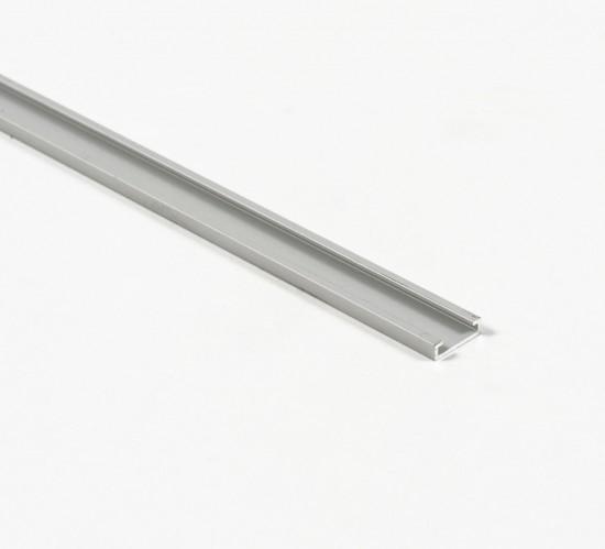 Накладка на профиль для стеклянной полки LED, серебро - Raumplus