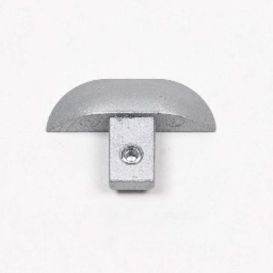 Заглушка для нижней одиночной направляющей s34мм - Raumplus