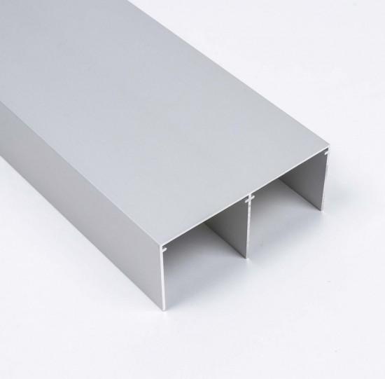 Направляющая верхняя двойная широкая, цвет-серебро - Raumplus
