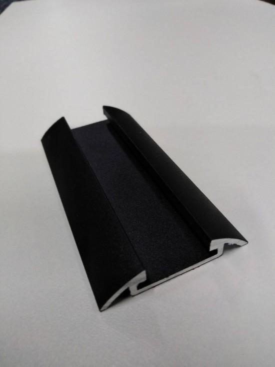 Направляющая для складной/распашной двери под магнитную ленту, цвет-черный - Raumplus