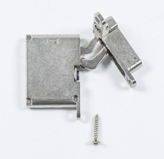 петля нижняя правая/верхняя левая /push to open, серебро - Raumplus
