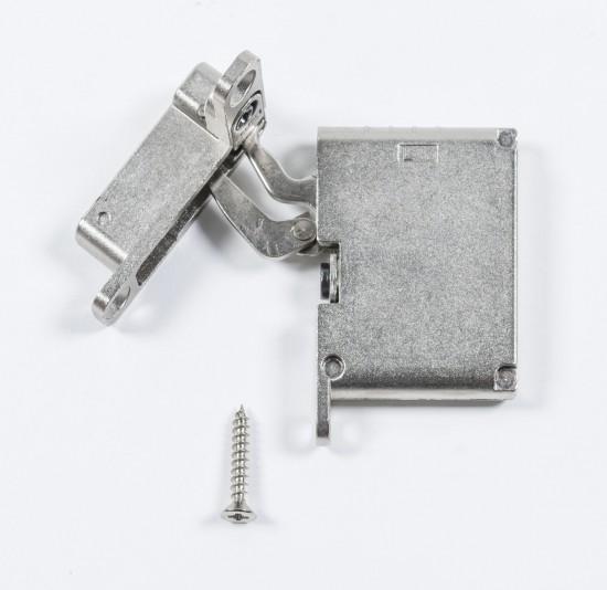 петля нижняя левая/верхняя правая /soft close , серебро - Raumplus