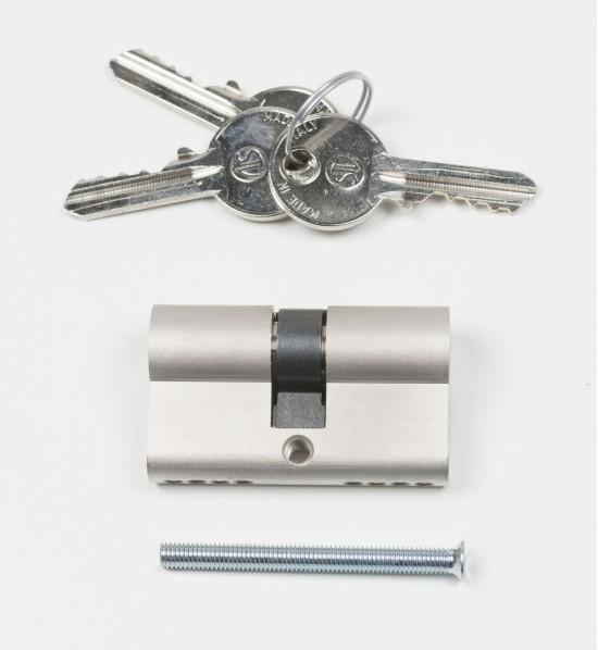 Цилиндр замка Swing,ключ/ключ, серебро - Raumplus