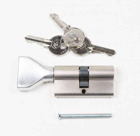 Цилиндр замка Swing,ключ/тумблер, серебро - Raumplus