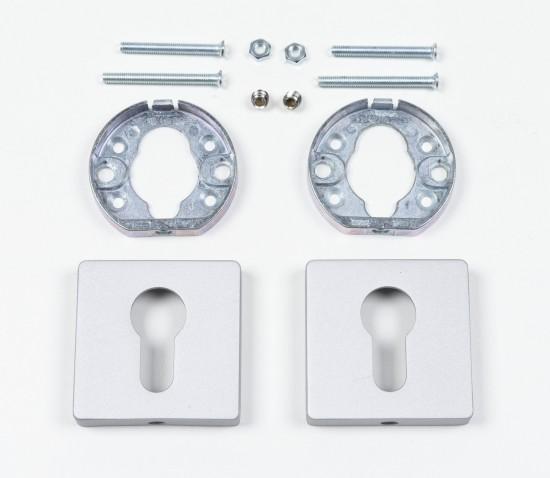 Квадратные розетки для цилиндра, серебро - Raumplus