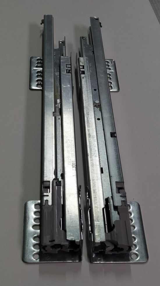Направляющие телескопические, цвет -серебро - Raumplus