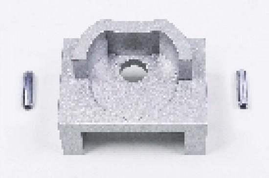 Держатель штанги круглой UNO LED, серебро - Raumplus