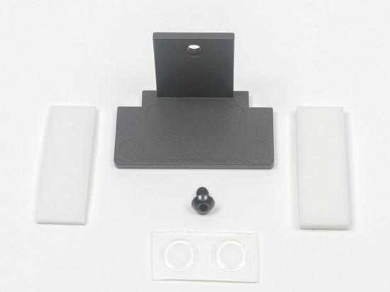 Крепление для стеклянной полки UNO,цвет -черный - Raumplus