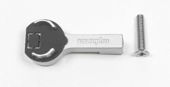 Держатель штанги круглой LED , серебро - Raumplus