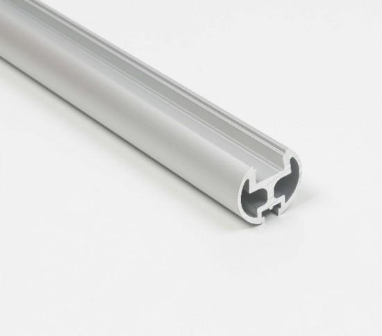 Штанга кругла UNO LED, срібло - Raumplus